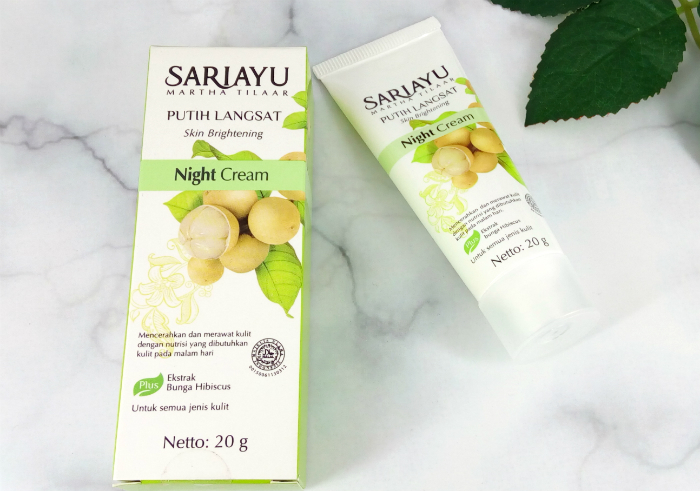 review gratis Sariayu Putih Langsat Night Cream