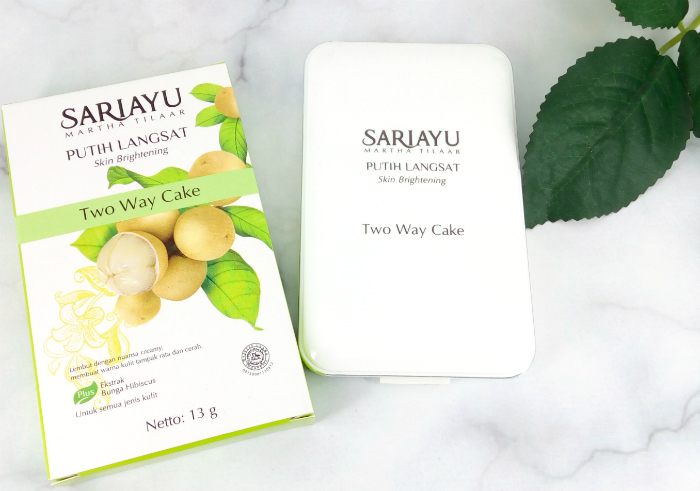 review gratis Sariayu Putih Langsat Two Way Cake