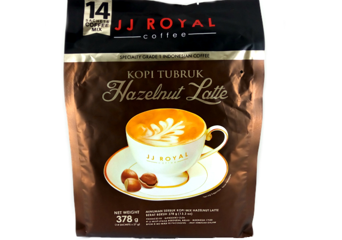 Kopi tubruk JJ Royal Coffee Hazelnut Latte