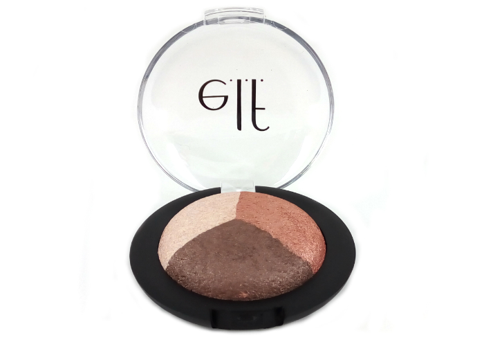 review gratis ELF Baked Eyeshadow Trio Peach Please