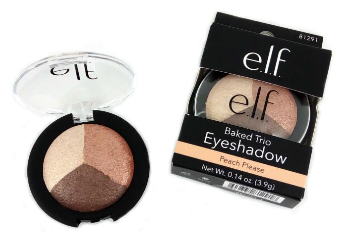 review gratis ELF Baked Eyeshadow Trio Peach Please