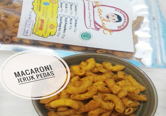 review gratis Cemilan Siendut Macaroni Jeruk Pedas