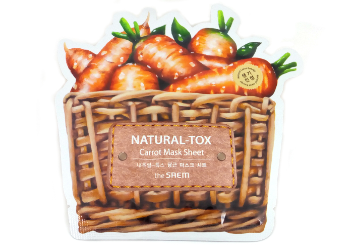 review gratis The Saem Natural Tox Carrot Mask Sheet