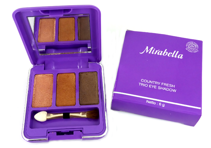 review gratis Mirabella Trio Eyeshadow Lightening Brown