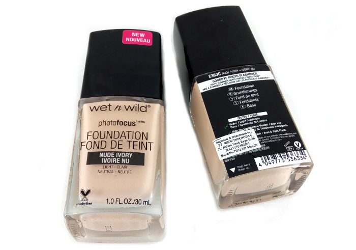 Wet n Wild Photofocus Foundation Nude Ivory