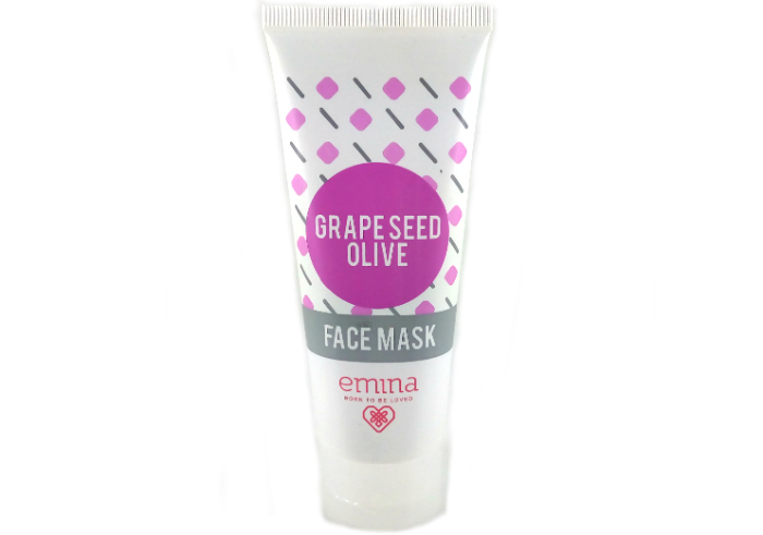 review gratis Emina Face Mask Grape Seed Olive