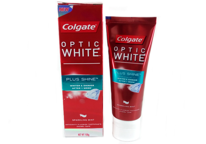review gratis Colgate Optic White Plus Shine
