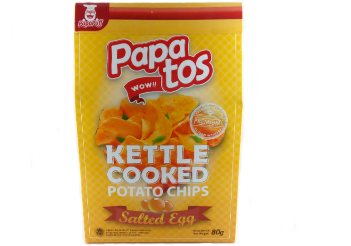 Papatos Potato Chips Salted Egg