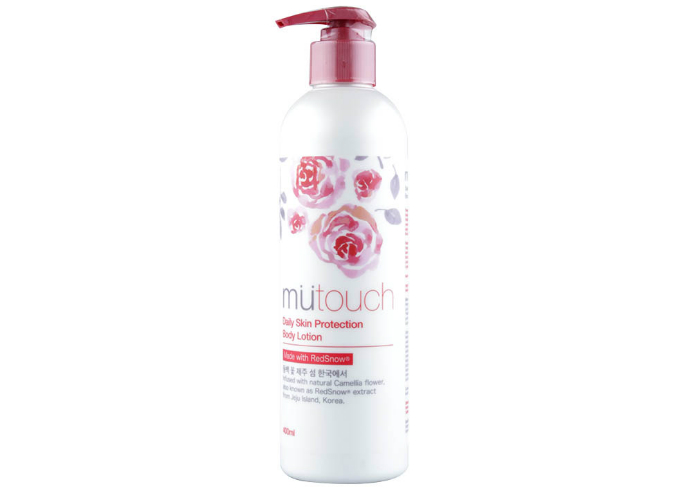 review gratis Mutouch Daily Skin Protection Body lotion with Redsnow