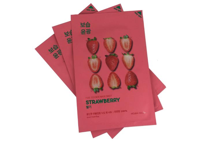 review gratis Holika Holika Pure Essence Mask Sheet Strawberry