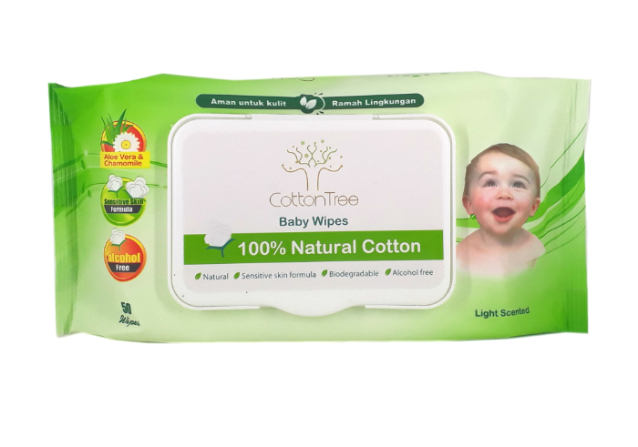 review gratis Cotton Tree Baby Wipes