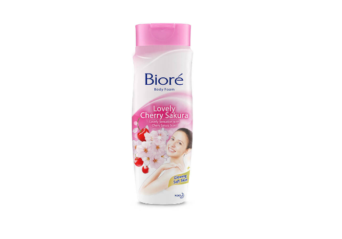 review gratis Biore Body Foam Lovely Cherry Sakura