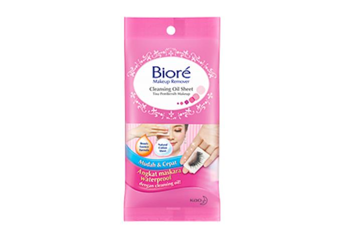 review gratis Biore Makeup Remover Cleansing Oil Sheet