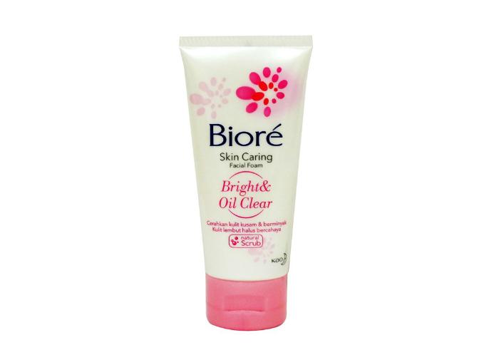 review gratis Biore Skin Caring Facial Foam Bright & Oil Clear