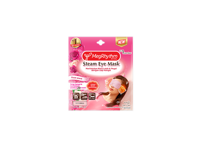 review image MegRhythm Masker Mata Steam Eye Mask Rose