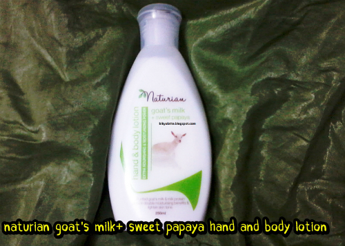 gambar review ke-3 untuk Naturian Goat's Milk + Sweet Papaya Hand & Body Lotion