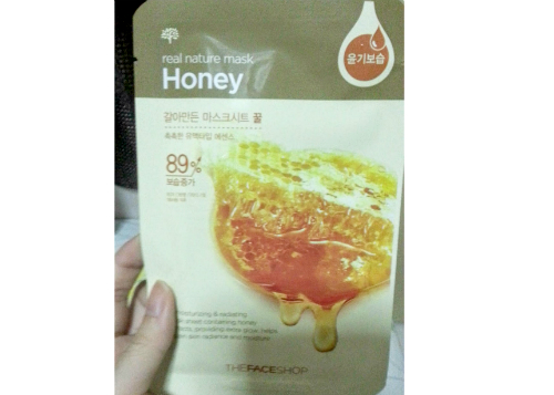 gambar review ke-1 untuk The Face Shop Real Nature Mask Honey