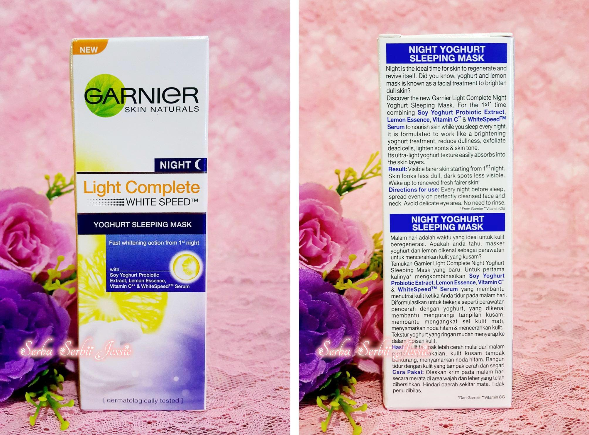 gambar review ke-2 untuk Garnier New Light Complete Yoghurt Sleeping Mask