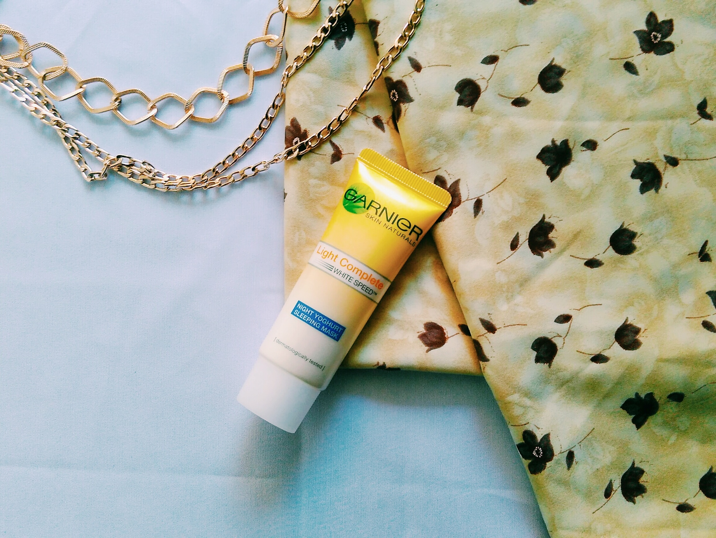 gambar review ke-1 untuk Garnier New Light Complete Yoghurt Sleeping Mask