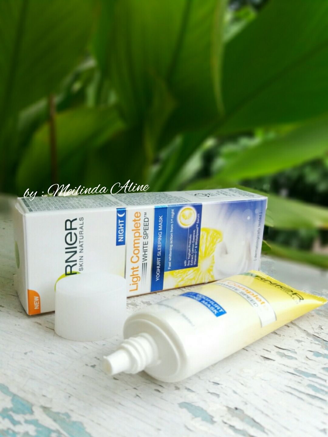 gambar review ke-4 untuk Garnier New Light Complete Yoghurt Sleeping Mask