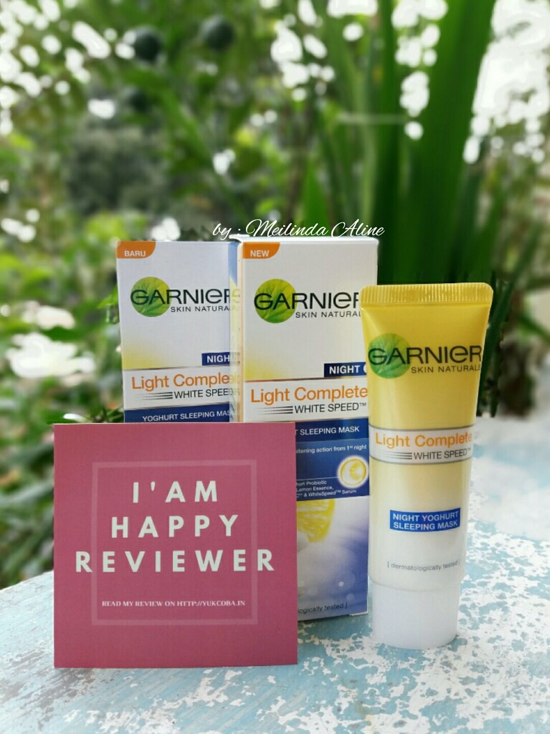 gambar review ke-5 untuk Garnier New Light Complete Yoghurt Sleeping Mask