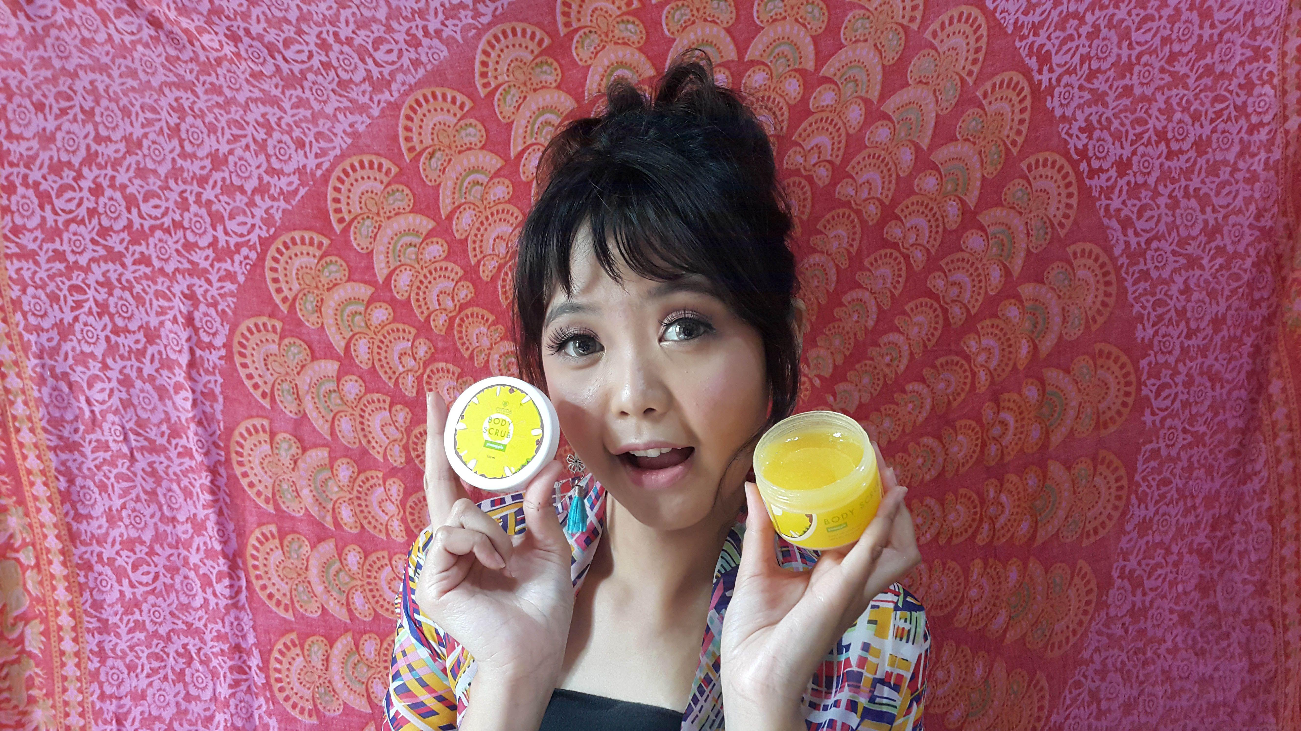 image review Emina Body Scrub Pineapple