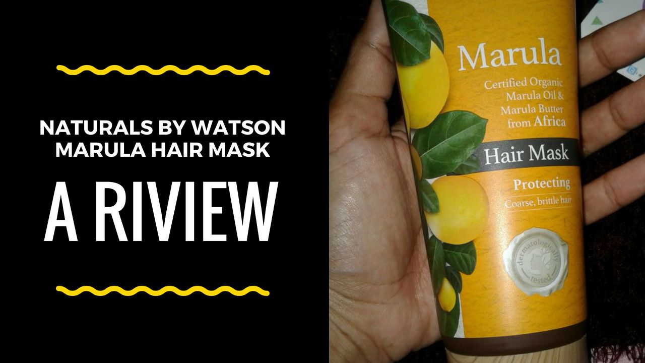 image review Naturals by Watsons Marula Hair Mask