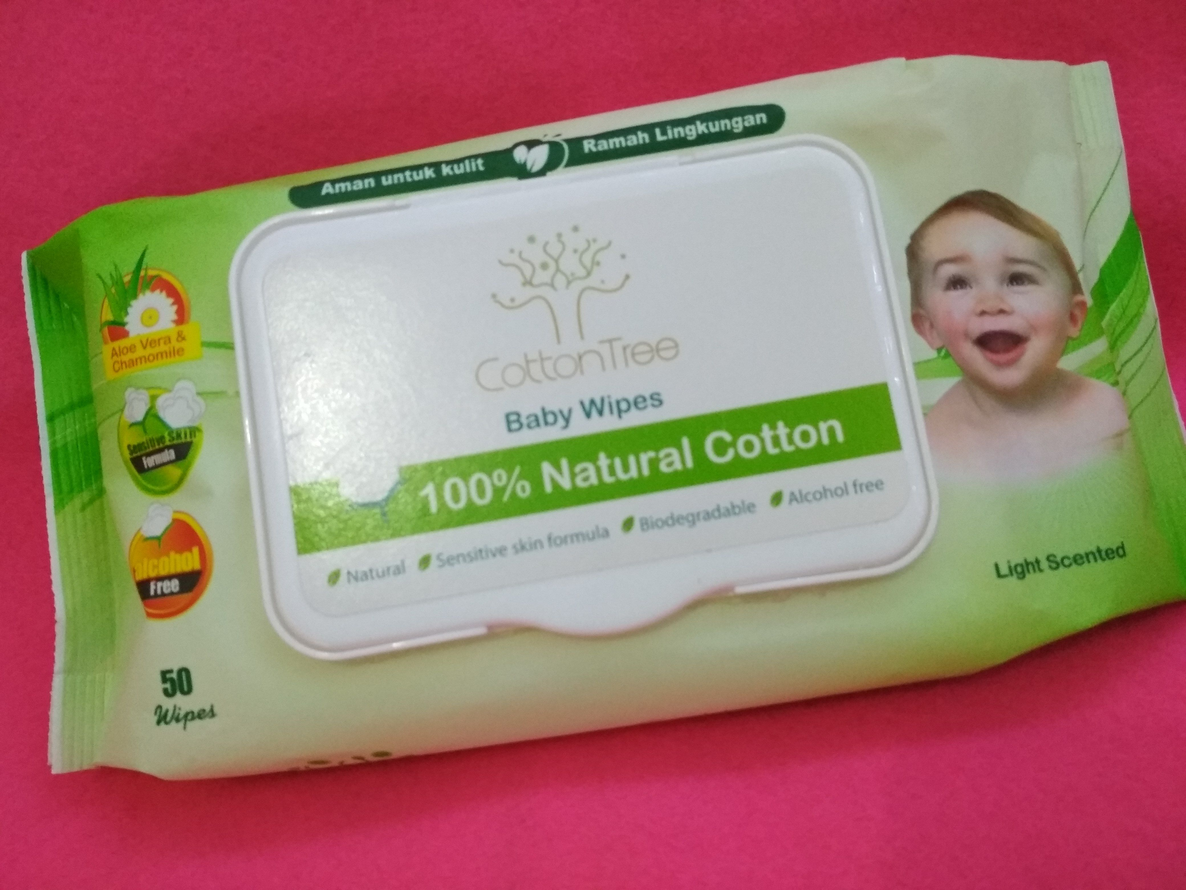 gambar review ke-1 untuk Cotton Tree Baby Wipes