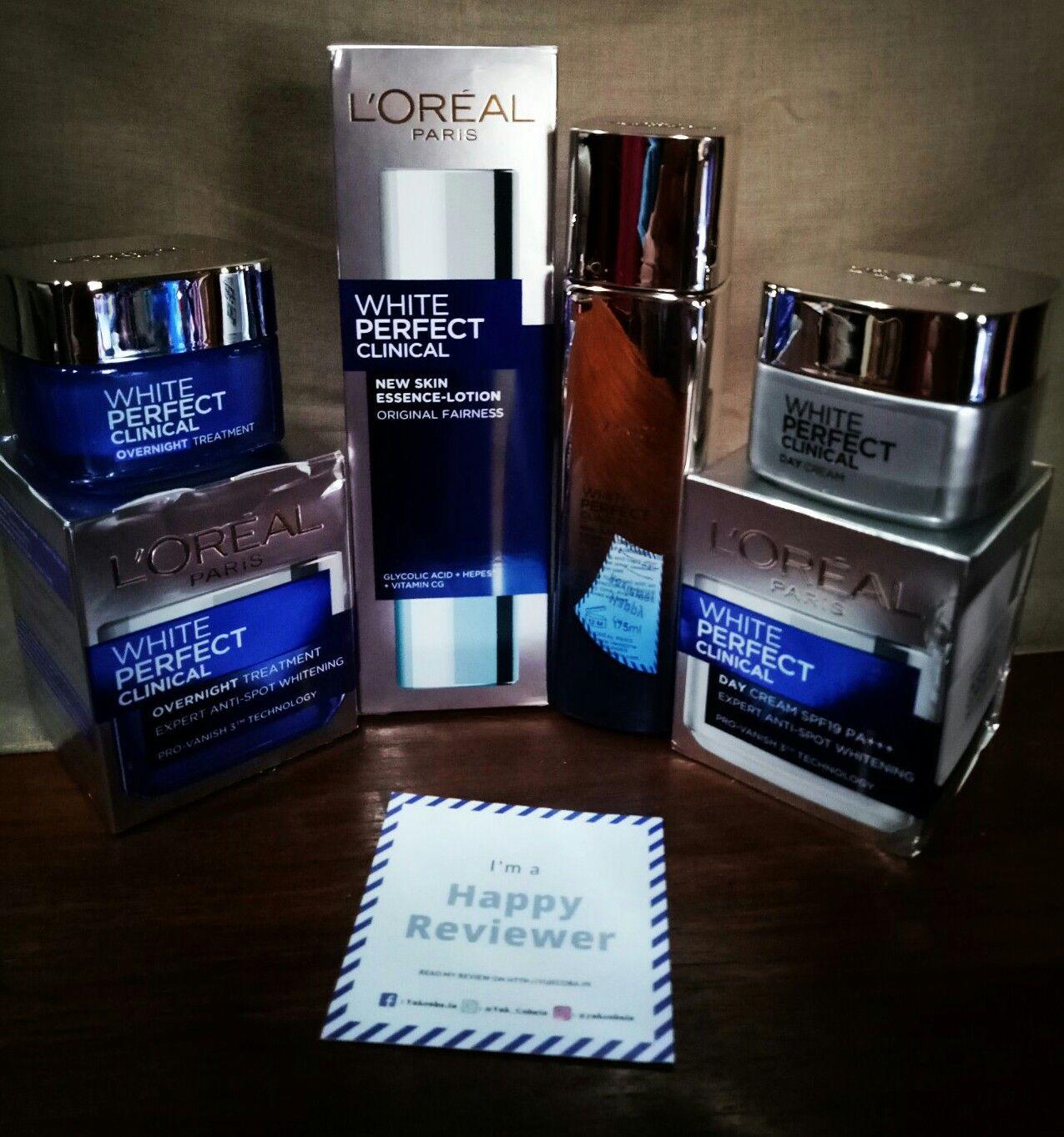 gambar review ke-1 untuk L'oreal Paris White Perfect Clinical Essence Lotion