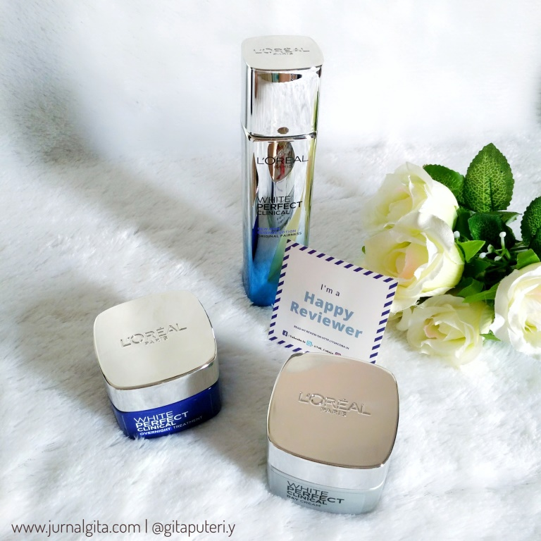gambar review ke-9 untuk L'oreal Paris White Perfect Clinical Essence Lotion