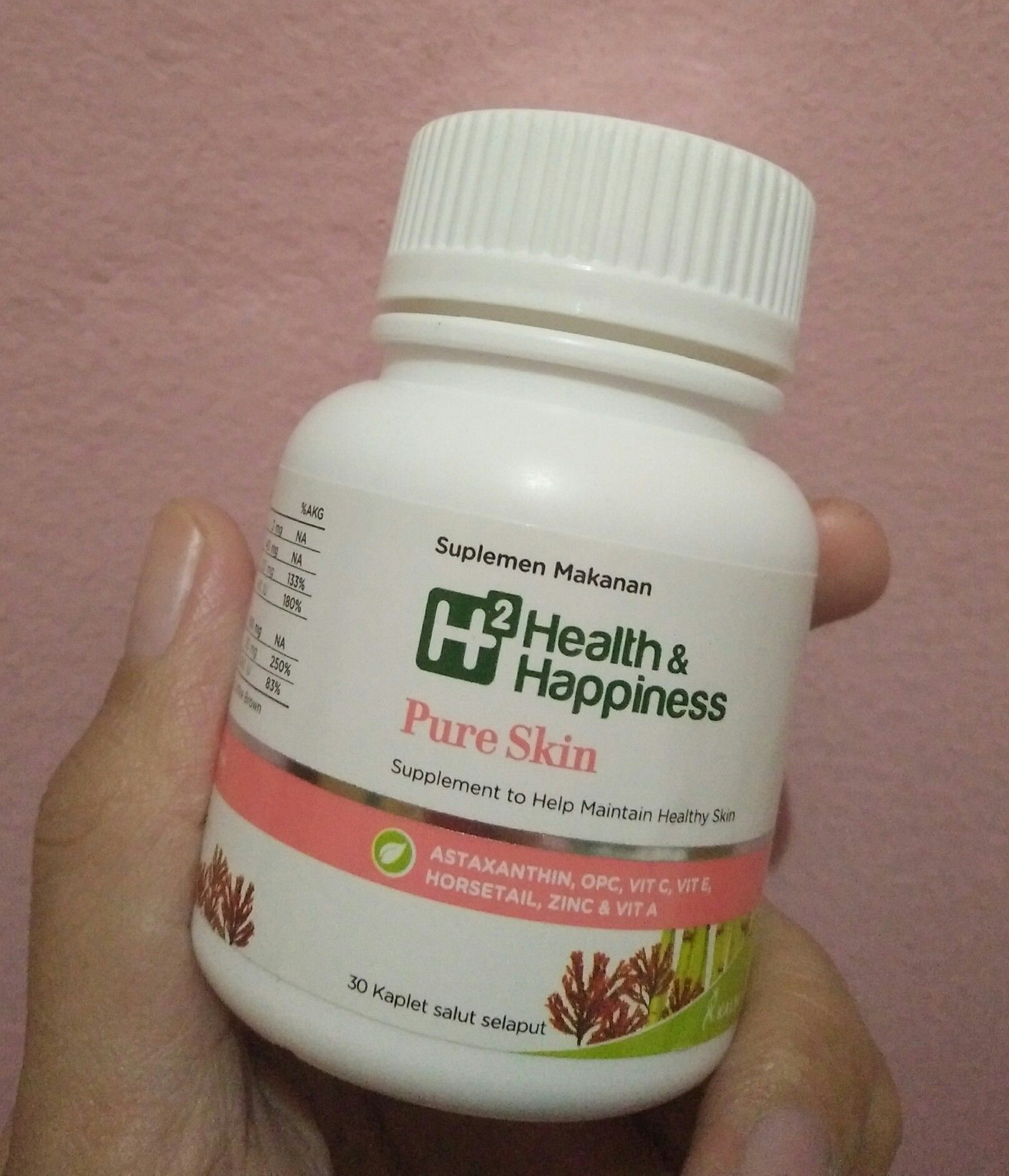 gambar review ke-4 untuk H2 Health & Happiness Pure Skin