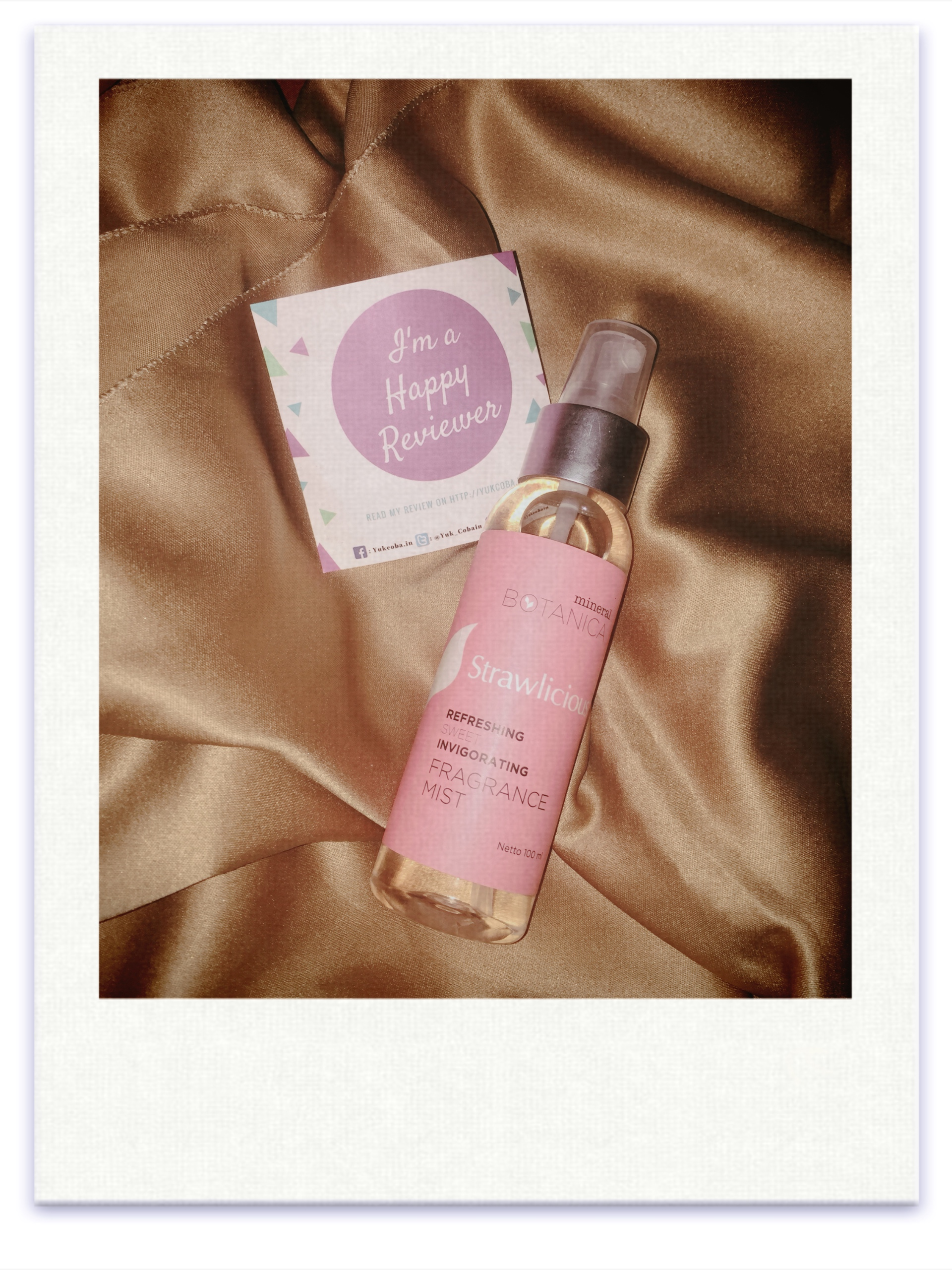 image review Mineral Botanica Strawlicious Fragrance Mist