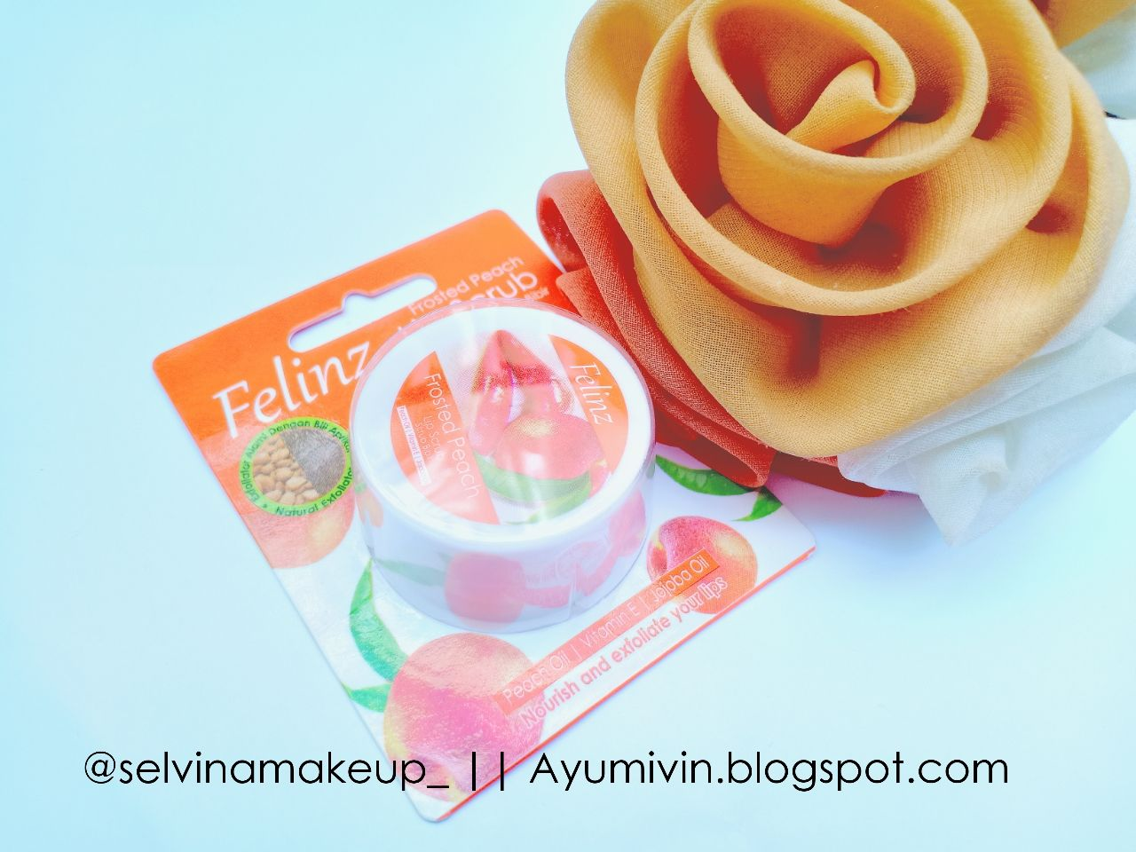 gambar review ke-7 untuk Felinz Lip Scrub Frosted Peach
