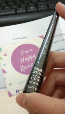 gambar review ke-2 untuk Silky Girl Double Intense Liquid Eyeliner Waterproof