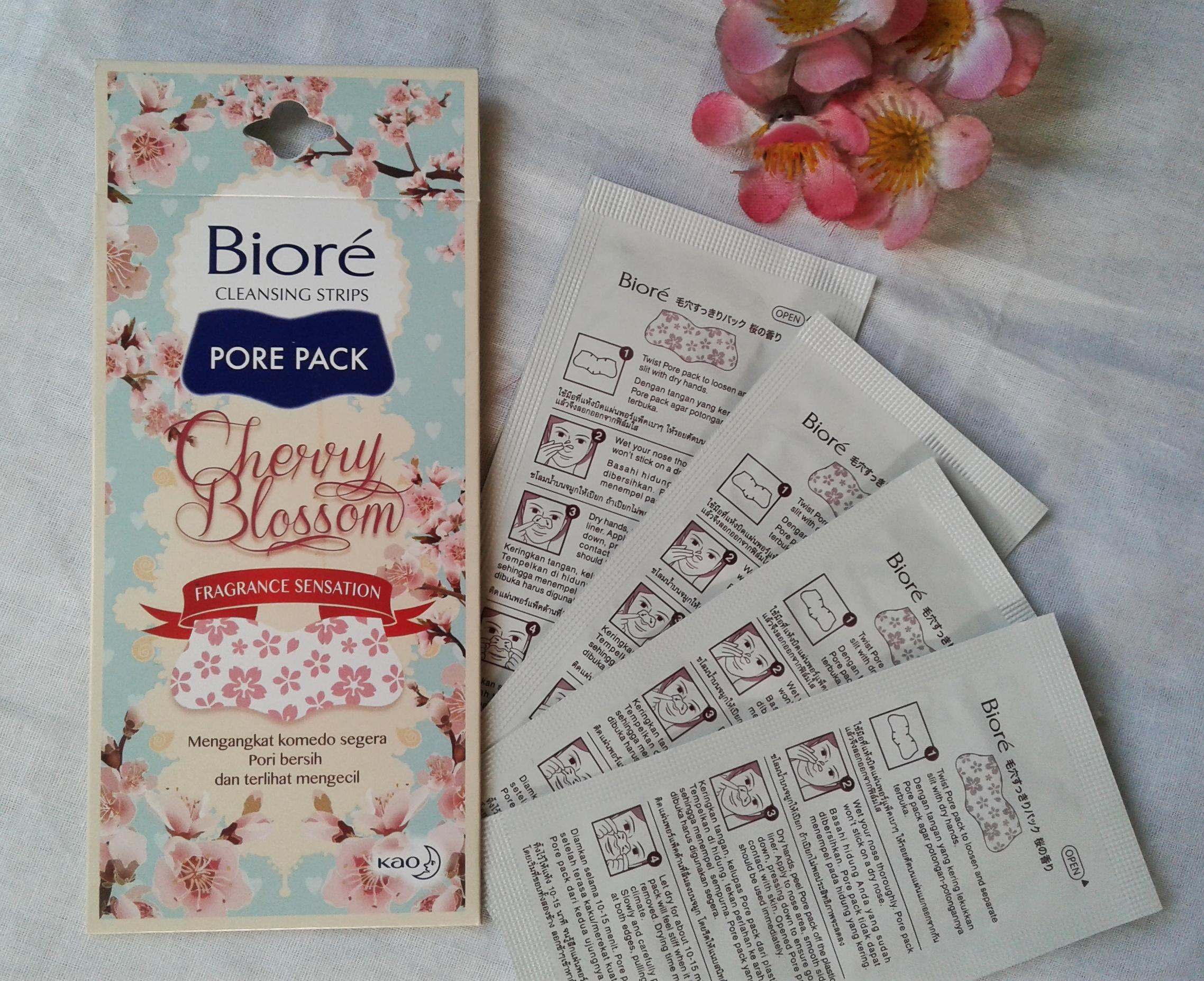 gambar review ke-1 untuk Biore Pore Pack Cherry Blossom Fragrance Sensation