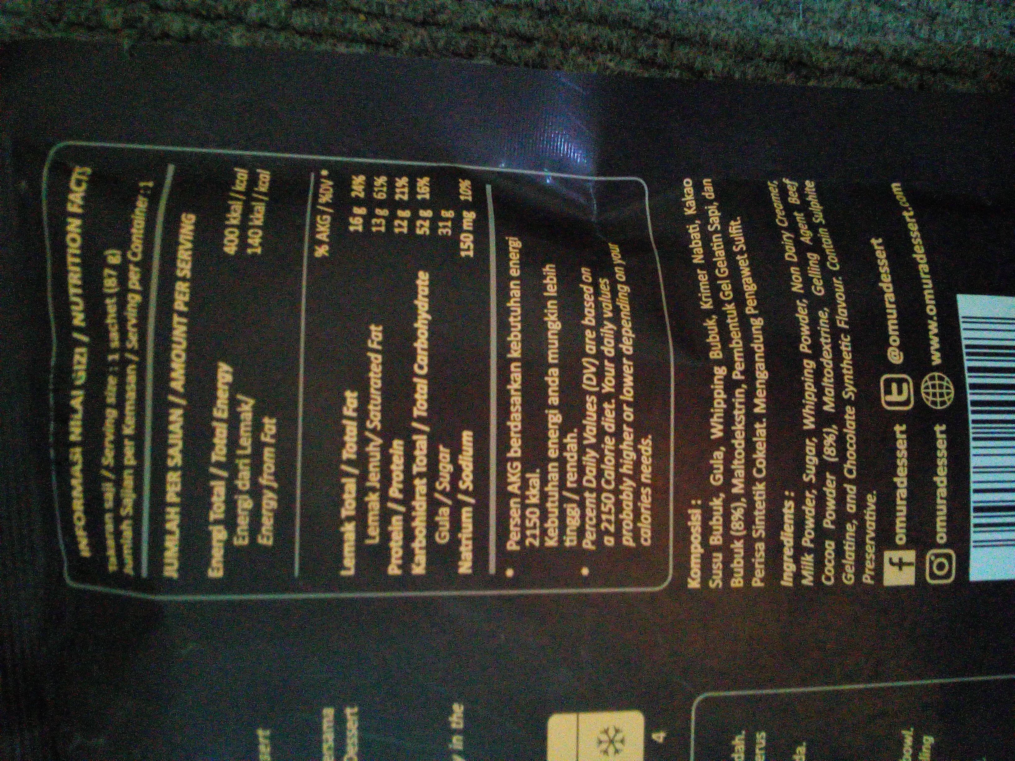 gambar review ke-4 untuk Omura Panna Cotta - Rasa Coklat