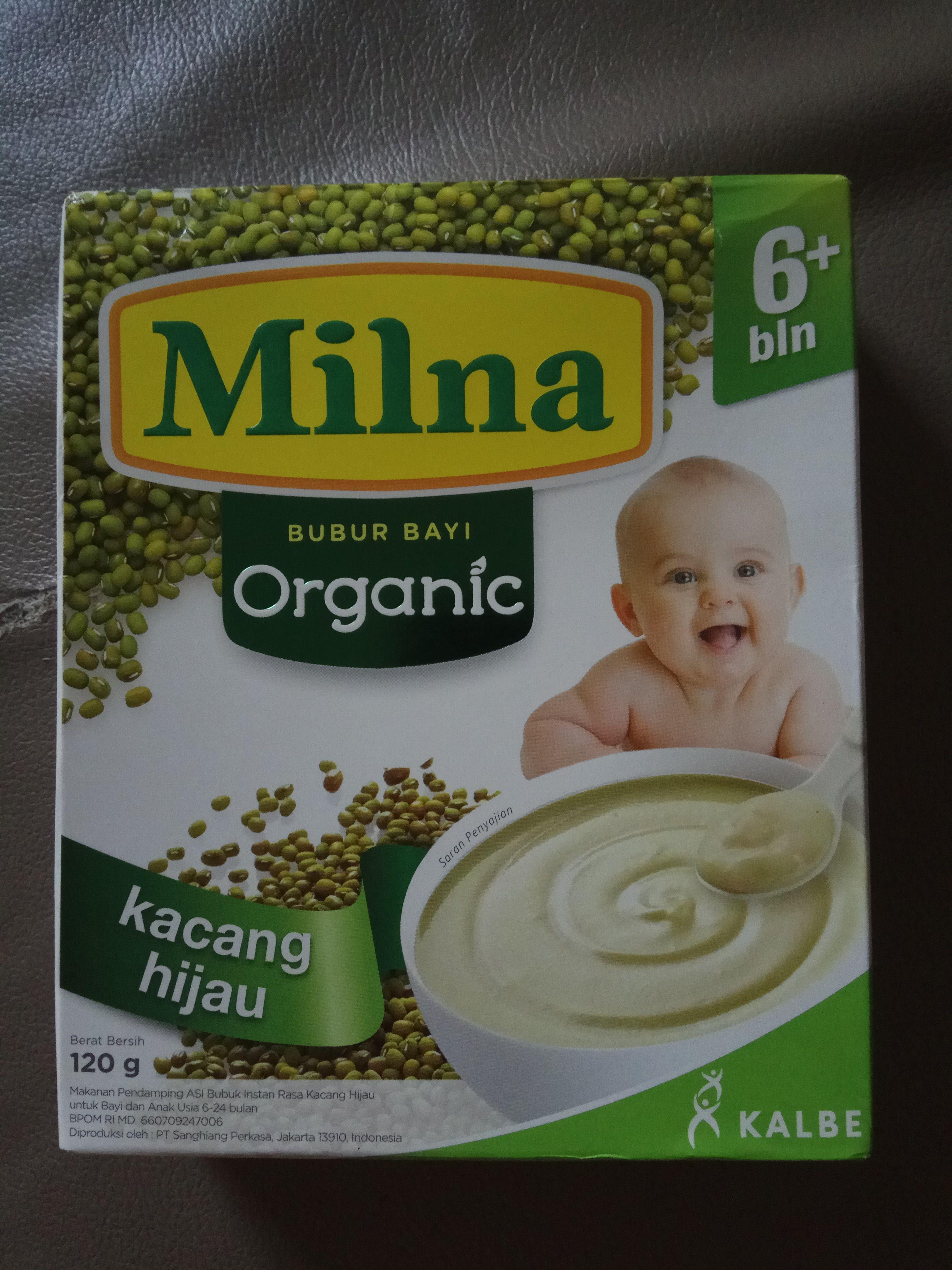 gambar review ke-1 untuk Milna Bubur Bayi Organic 6+ bln - Kacang Hijau