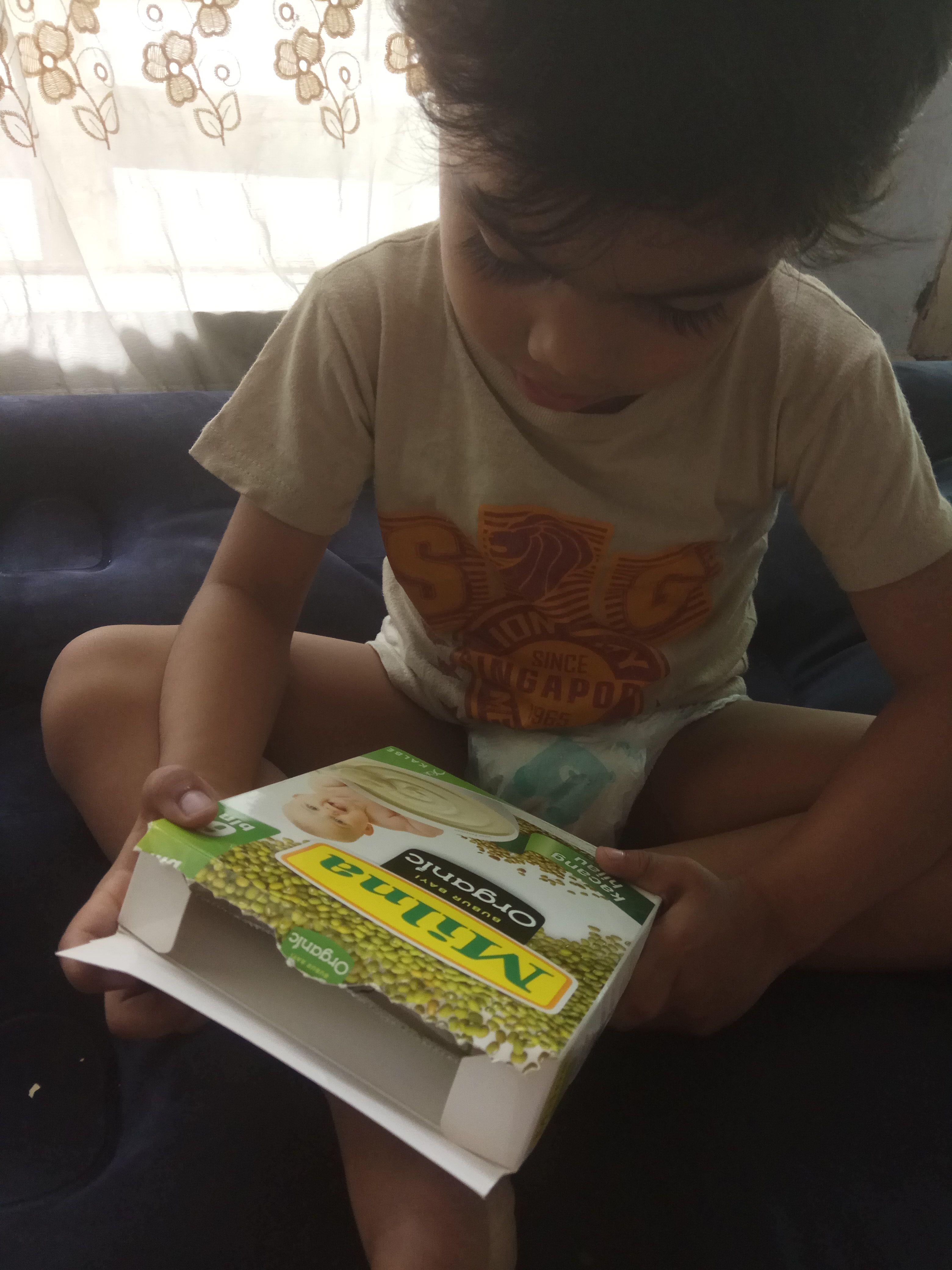 gambar review ke-6 untuk Milna Bubur Bayi Organic 6+ bln - Kacang Hijau