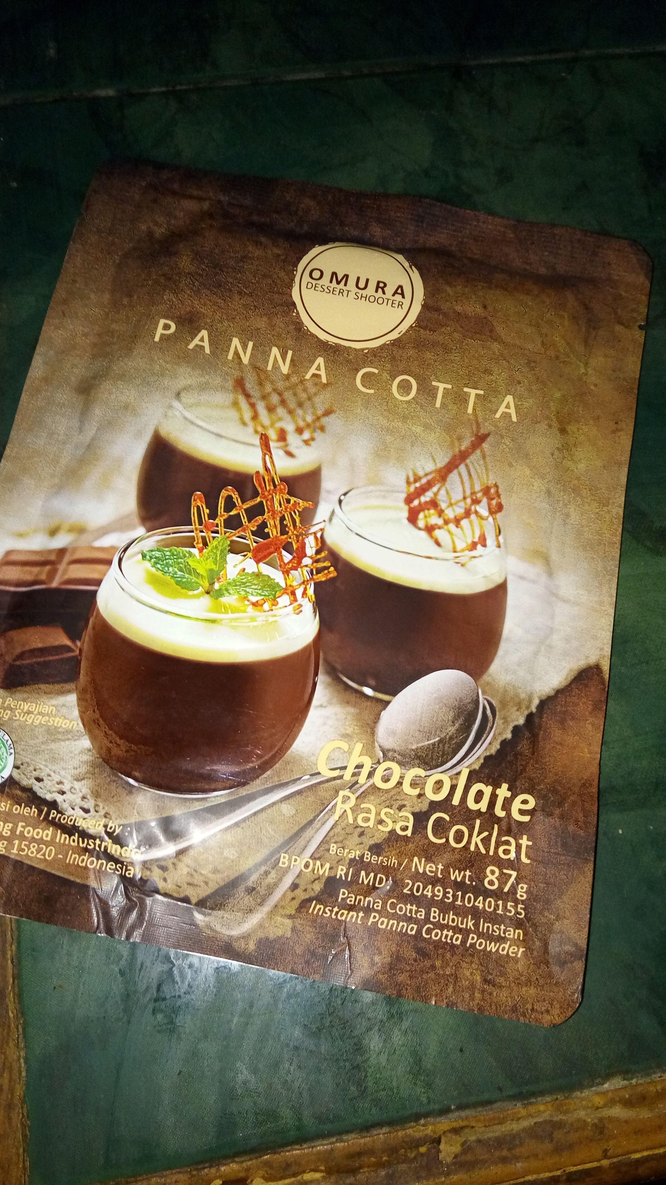 image review Omura Panna Cotta - Rasa Coklat