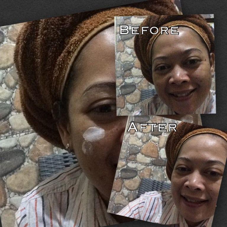 gambar review ke-2 untuk Fair & Lovely 2 in 1 Powder Cream