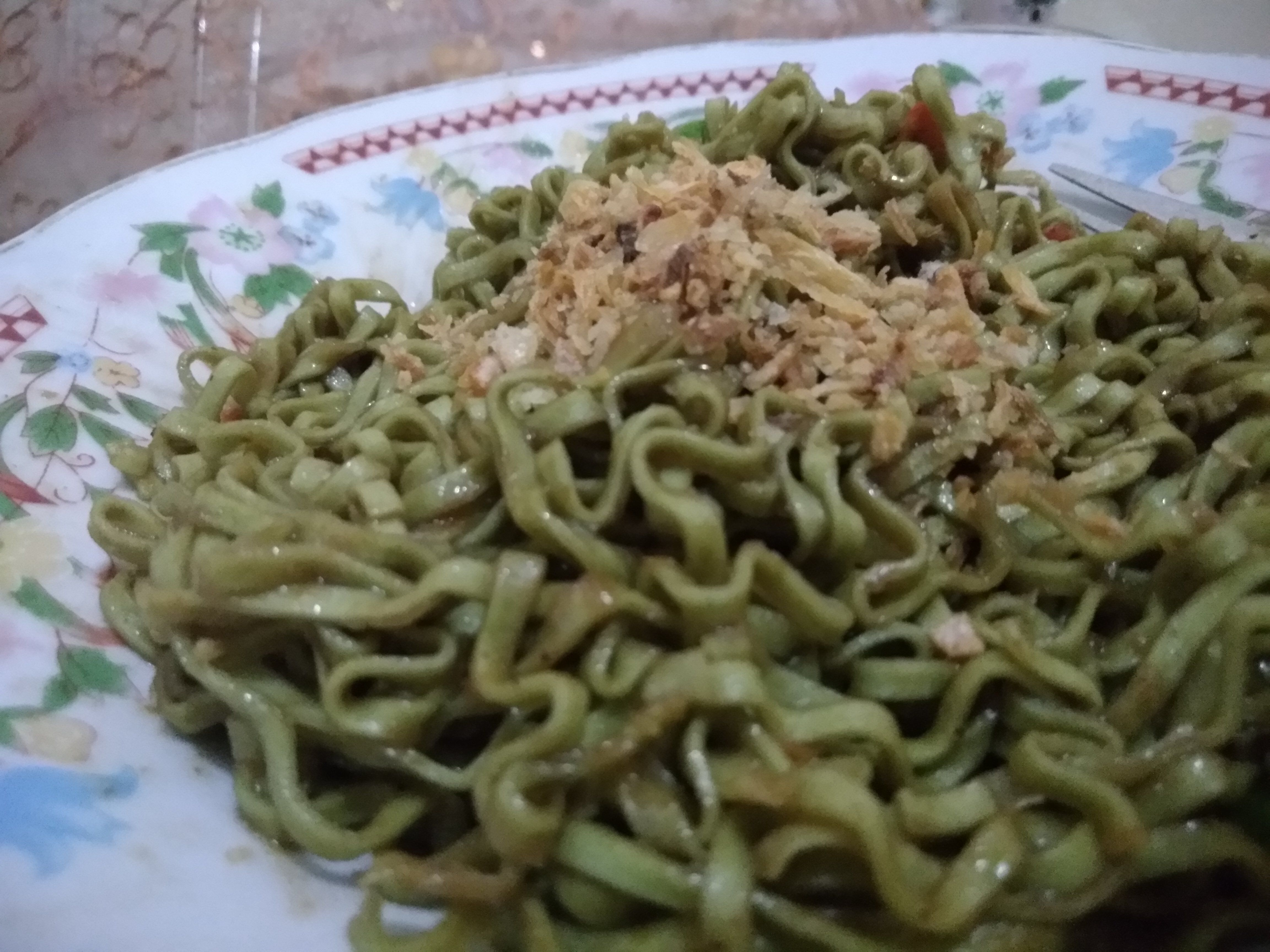 Healtimie - Goreng Healtimie Green Barley Noodle, Mi Siap Saji Low Fat and Less Sodium