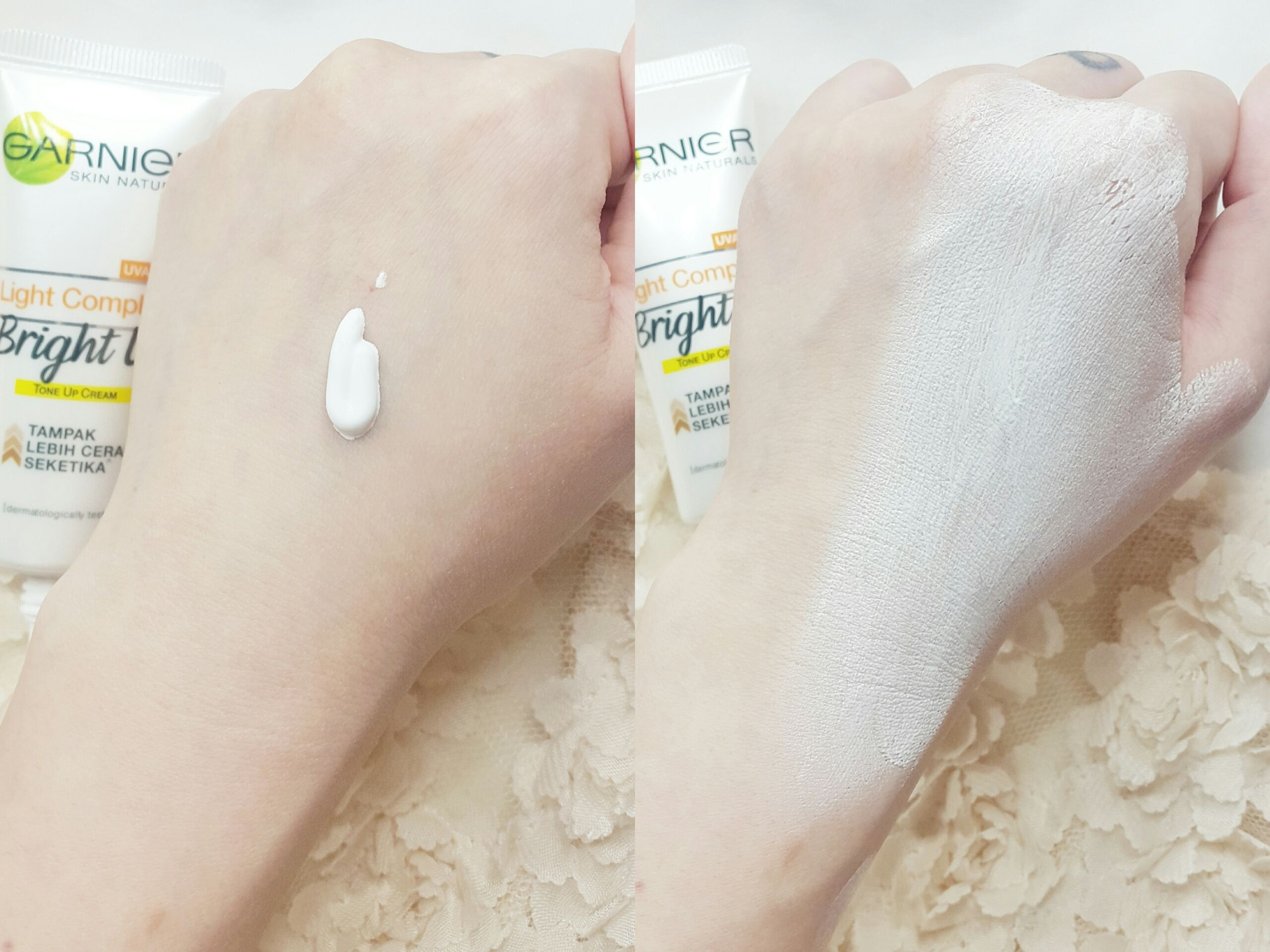 gambar review ke-3 untuk Garnier Light Complete Bright Up Tone Up Cream