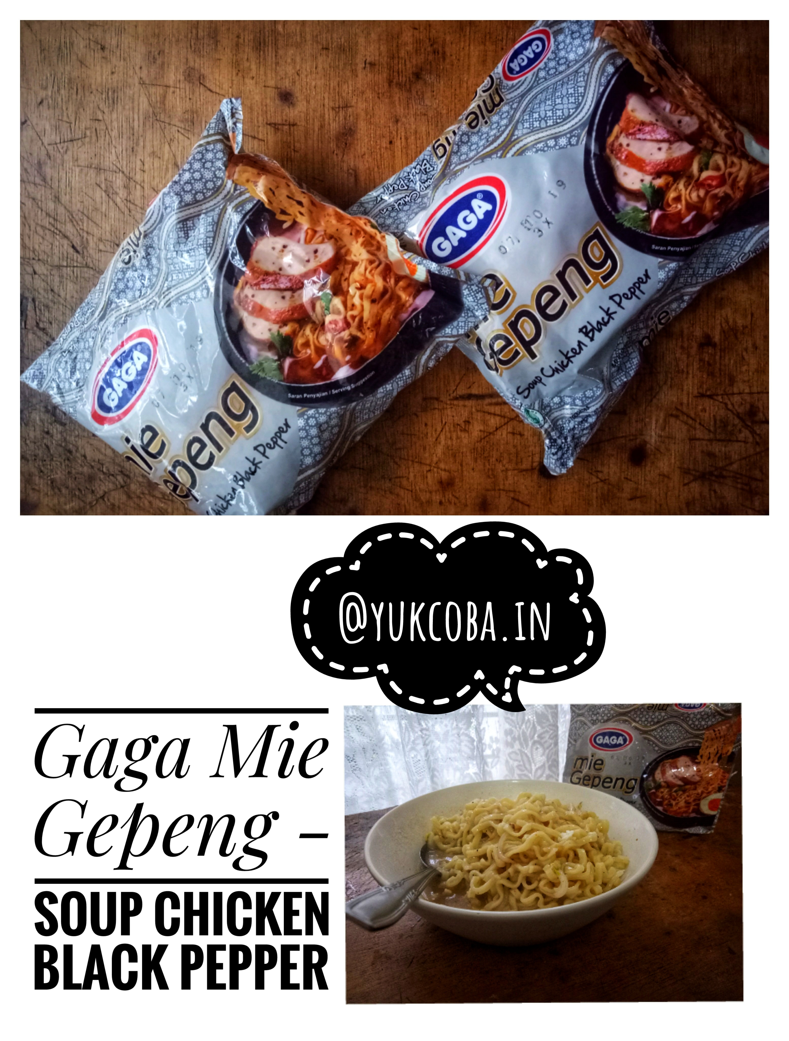 gambar review ke-3 untuk Gaga Mie Gepeng - Soup Chicken Black Pepper
