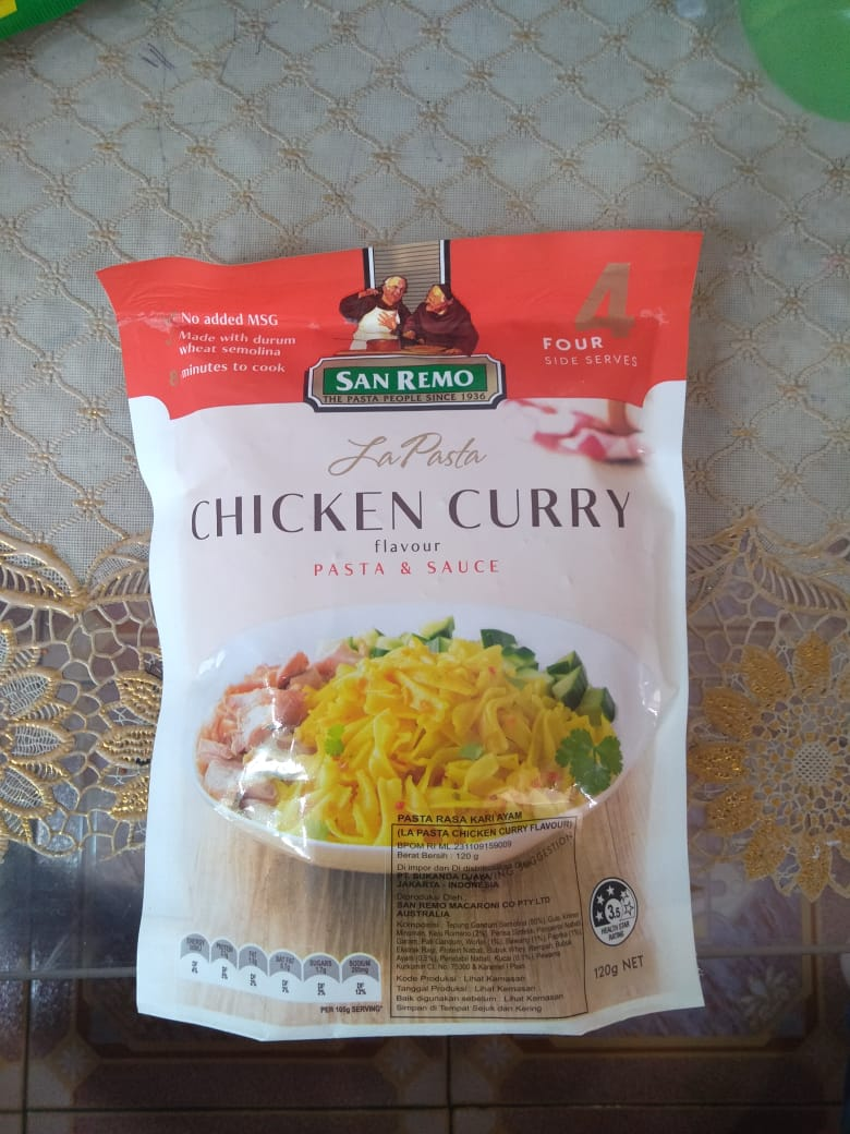 image review San Remo La Pasta - Chicken Curry
