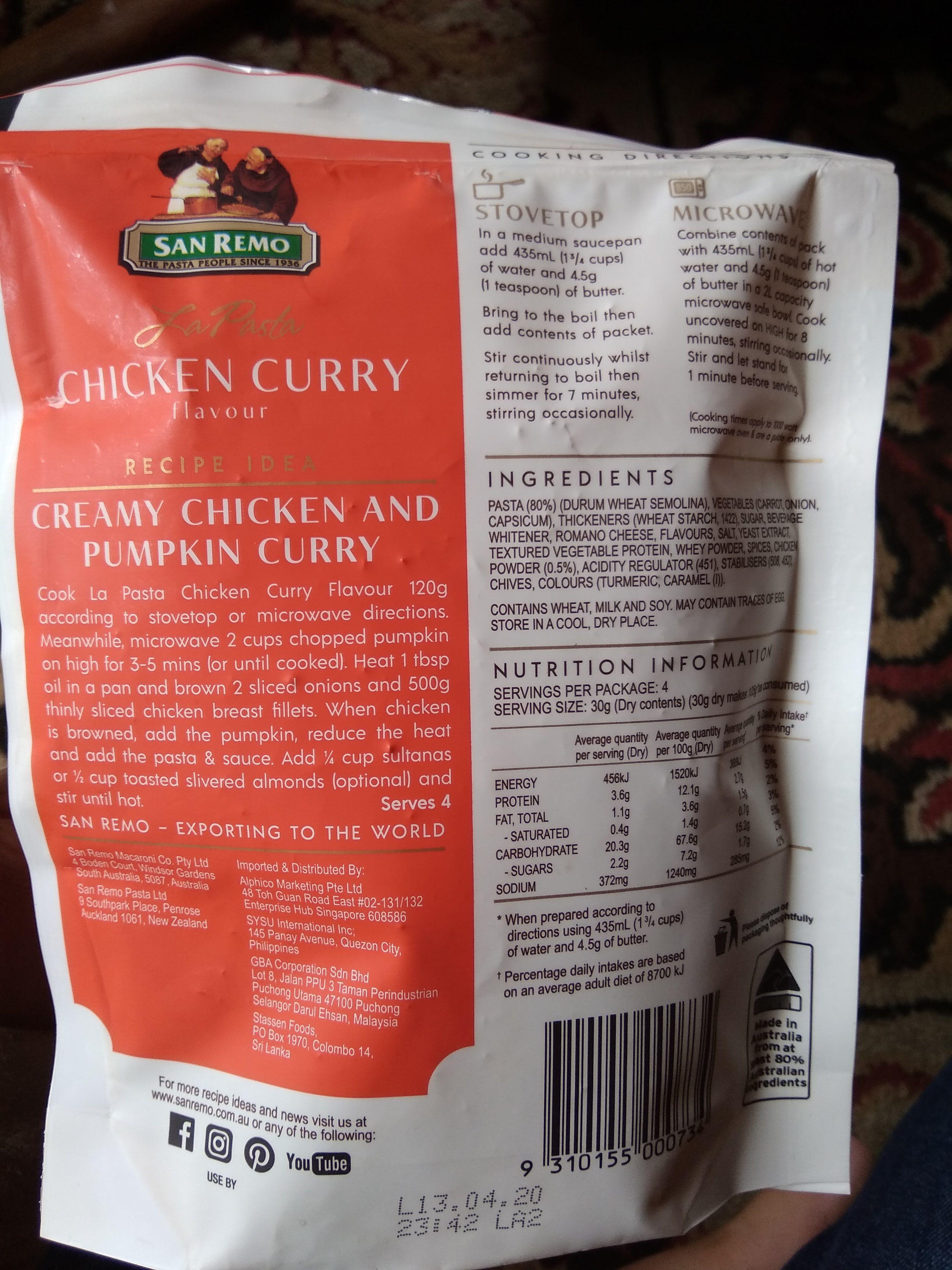 gambar review ke-2 untuk San Remo La Pasta - Chicken Curry