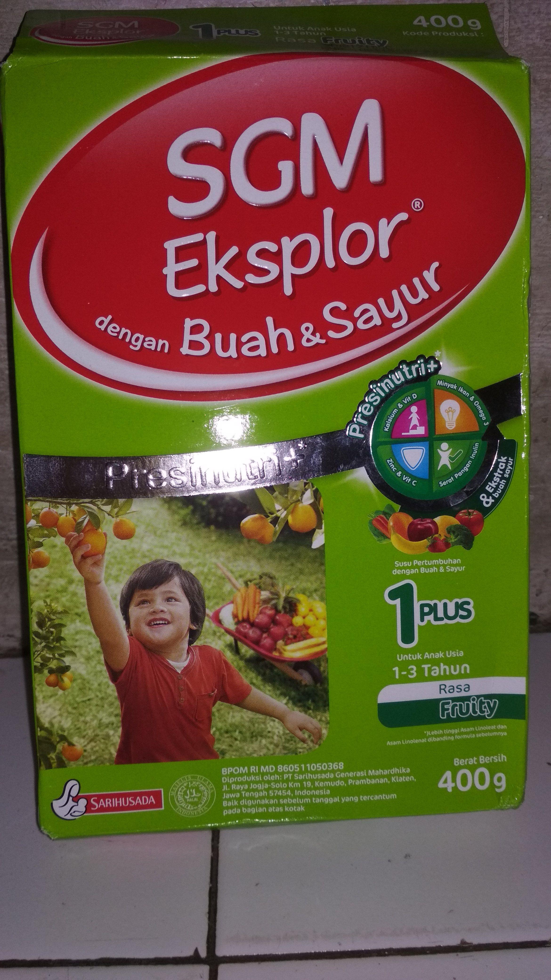 SGM Explor 1+ Buah dan Sayur