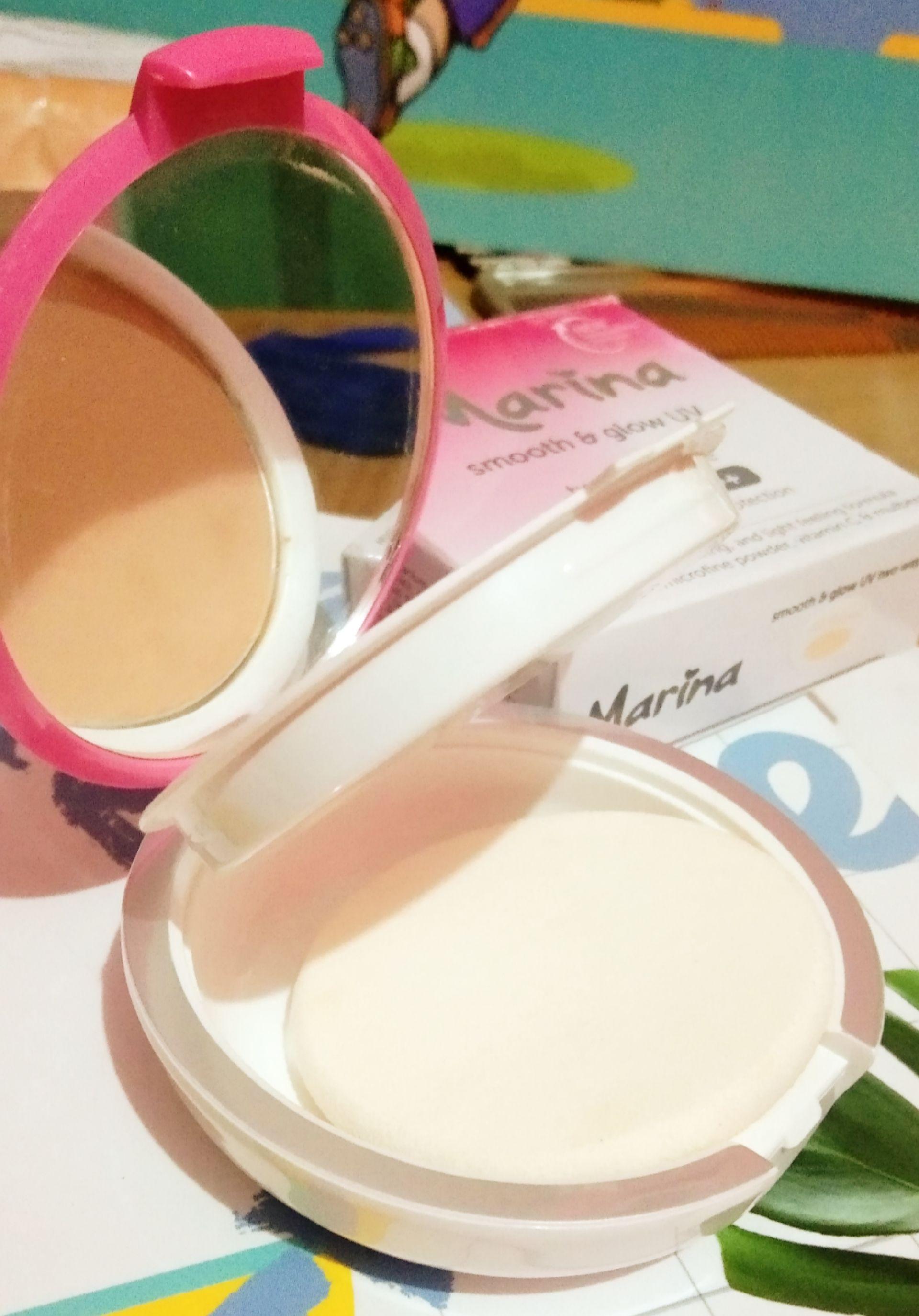 gambar review ke-3 untuk Marina Smooth & Glow UV Two Way Cake