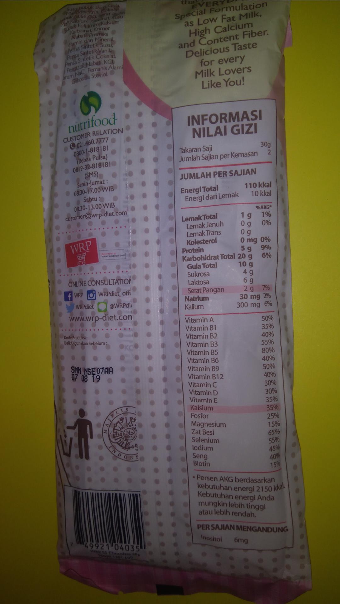 gambar review ke-5 untuk WRP Low Fat Milk