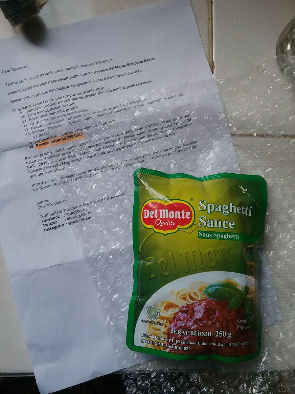 gambar review ke-1 untuk Del Monte Spaghetti Sauce