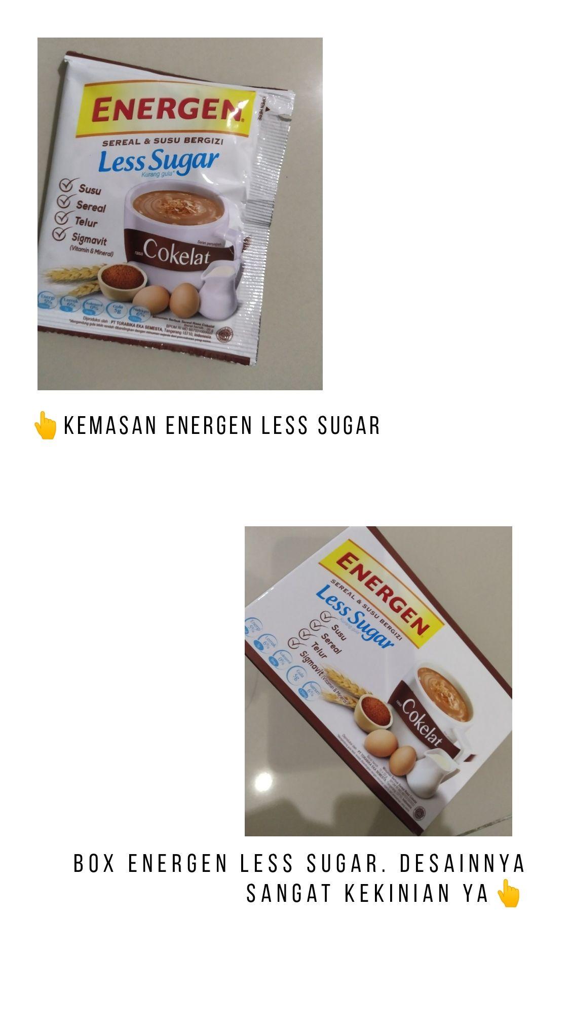 gambar review ke-1 untuk Energen Less Sugar